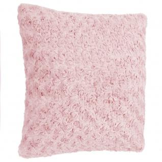 Dekoratives Kissen in rosa Farbe, haarige Dekoration für das Wohnzimmer