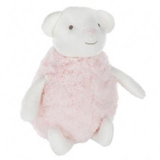 Kuscheltier für Kinder, KANINCHEN, rosa-weiß