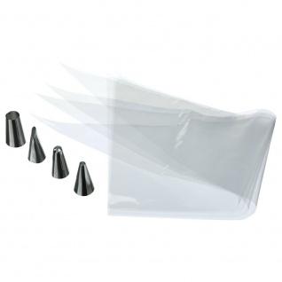 Einweg-Spritzbeutel, inkl. 4 Metall-Tüllen, 20 Stück