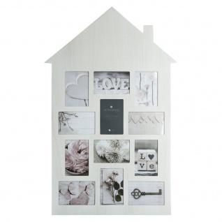 Fotorahmen aus Holz HÄUSCHEN, Bilderrahmen, Multirahmen, weiß