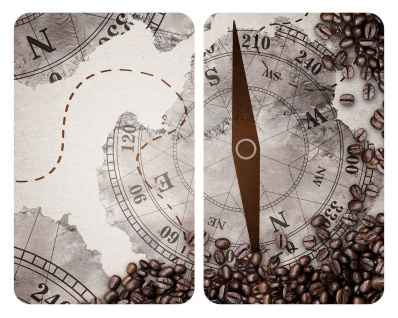 Kompass aus gehärtetem Glas, 2 Stück, Schneidebretter, kratzfest