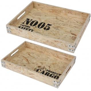 Servierplatte, Frühstückstablett CARGO 2 Stück: 40x30x6cm und 38x26x6cm