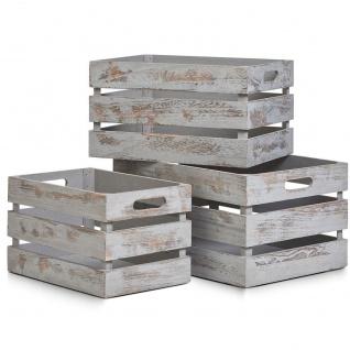 VINTAGE Aufbewahrungskoffer, Holz, 31x21x19 cm, ZELLER - Vorschau 2