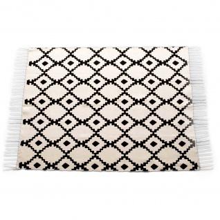 Teppich für Wohnzimmer EVASION, Baumwolle, 120 x 170 cm, Rhomben-Muster