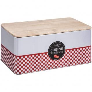 Brotbacken mit Holzdeckel, Metall-Brotbehälter mit einzigartigem Design