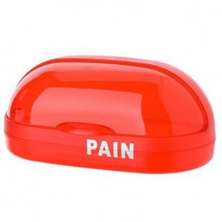Transparente Brotbox aus rotem, strapazierfähigem Kunststoff, leicht zu reinigen