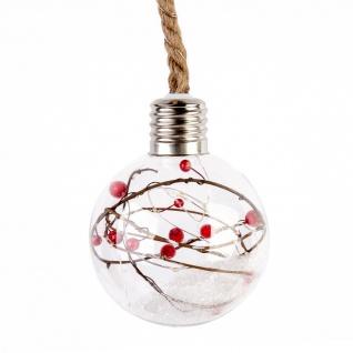 Weihnachtskugel, Weihnachten, Glas auf Schnur, 60 cm - Home Styling Collection