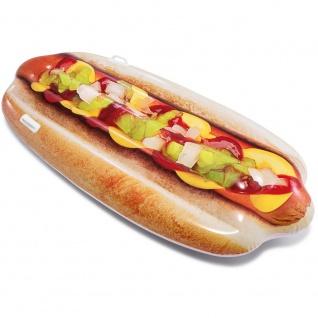 Aufblasbare Matratze, Schwimmgerät in Form eines Hot Dog, die Spaß im Wasser Spaß machen wird