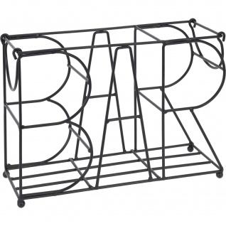 BAR Weinständer, Metall, 28x19 cm