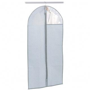 Zeller Kleiderhülle mit Fenster, ca. 60 x 120 x 1 cm, weiß/grau, Vlies