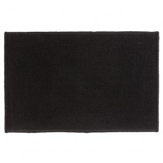 Badteppich TAPIS UNI, 40x60 cm, Farbe schwarz