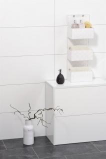 Wenko Organizer Adria zum Aufhängen, Badkörbe, 3 Ebenen, Polypropylen, weiß, 15, 5 x 25 x 72 cm - Vorschau 4