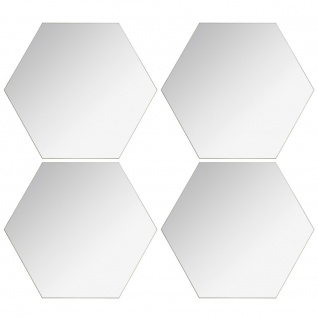 Ein Satz von Spiegeln in geometrischen Formen, mit universeller Anwendung und modernem Design.