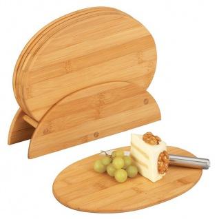 ZELLER Brettchenständer, 7-teilig, oval, Bamboo
