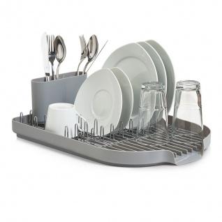Geschirrabtropfständer, grau, Kunststoff, 45x32x13 cm
