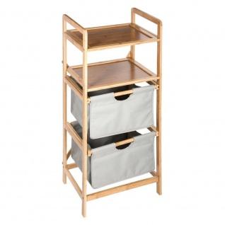 Bambus Badezimmer Bücherregal - 4 Ebenen, graue Farbe