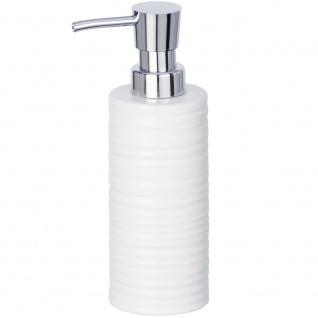 Keramikbehälter mit Flüssigseifenpumpe, nachfüllbarer MILA Spender - 260 ml, WENKO