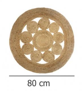 Deko-Teppich aus Jute, Ø 80 cm, rund, Boho-Stil - Vorschau 5