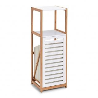 Bambusregal für das Badezimmer, Bücherregal mit Wäschekorb, Leiter-Gestell.