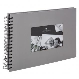 Album für 160 Fotos, in einer Spirale, Farbe grau