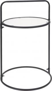 Moderner Couchtisch mit 2 Ebenen und Griff Ø 35 cm, schwarz - Home Styling Collection