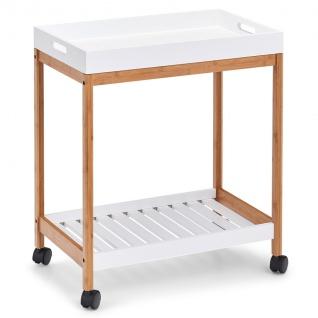 Bambusbar, Trolley zum Servieren von Geschirr, Möbel auf Rädern.