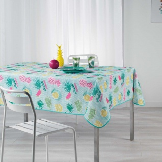 Tischdecke, rechteckig, HAPPY SUMMER, 150 x 240 cm, pfefferminzgrün