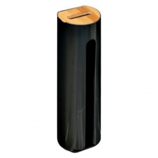 Kosmetische Flocken Behälter mit Bambusdeckel, Farbe schwarz - 5five Simple Smart