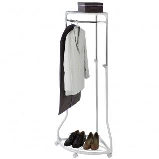 WENKO Kleiderständer, Eckkleiderbügel - Rollschrank