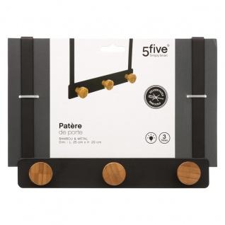 Türgarderobe mit 3 Haken, Metall, schwarz - 5five Simple Smart - Vorschau 3
