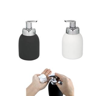 WENKO, Schaumspender Bottle White - Soft-Touch Beschichtung, Fassungsvermögen