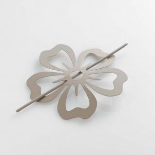 Raffhalter Brosche (0) 15 cm Metall lackiert Petaly schwarz - Douceur d'intérieur