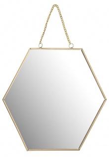 Wandspiegel in Form eines Sechsecks, Breite 29 cm