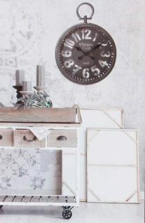 Runde Wanduhr Wohnzimmer Uhr Designuhr Arabische Ziffern Dekouhr Vintage  Ø45cm