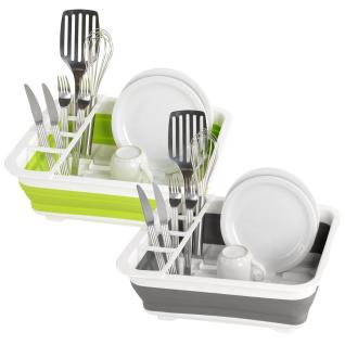 WENKO Abtropfgestell für Geschirr und Besteck, Geschirrabtropfer faltbar