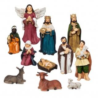 Figuren zur Weihnachtskrippe, 11 St.