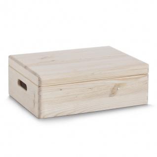Aufbewahrungsbehälter, Kiefernholzbox, inkl. Fächern, Zeller