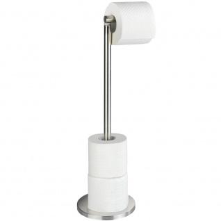 Toilettenpapier-Badezimmerständer, Design mit Griff und Stange für 4 zusätzliche Rollen - WENKO