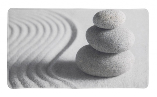 Anti-Rutsch-Badematte, dekorativ, mit Stein- und Sanddruck, 70x40cm, SAND UND STEIN WENKO