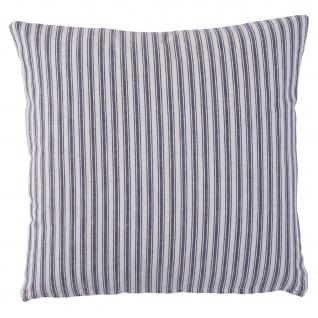 Deko-Kissen LE CAP, Baumwolle, 40 x 40 cm, weiß-blaue Streifen