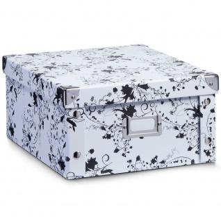 Zeller Aufbewahrungsbox White Floral, 31 X 26 X 14 Cm - Vorschau