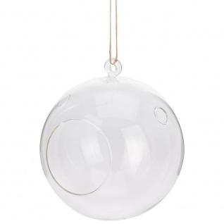 DECO XMAS Glaskugel zum Aufhängen von Schilf, Durchmesser 23 cm - Home Styling Collection