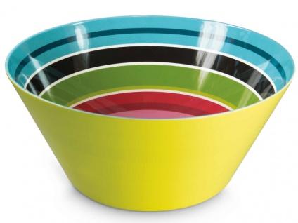 Obstschale in buntem Muster, große Salatschüssel aus Melamin - Remember