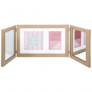 ATMOSPHERA 3-in-1 Bilderrahmen für 2 Fotos, Spiegel und Memo, 76 x 24 cm, Holz, cm - Atmosphera