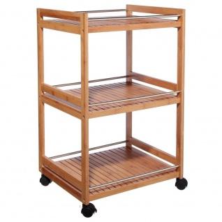 Bambus Küchenwagen Küchenregal 5five Simple Smart Bambus Motiv
