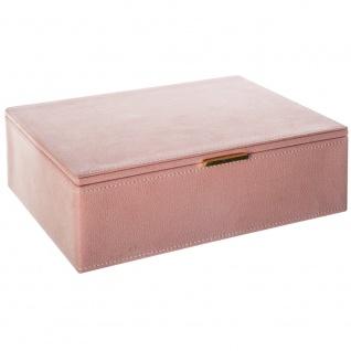 Behälter mit Fächern für Schmuck oder Kosmetik, große Box mit Spiegel - 26 x 21, 5 x 8, 5 cm, Atmosphera Créateur d'intérieur