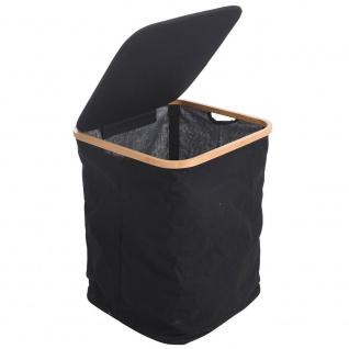 Wäschekorb mit Deckel, schwarzer Tasche für schmutzige Kleidung, 83 l - Storagesolutions