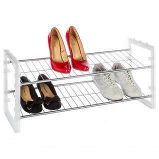 Metallgestell für Schuhe, Schuhständer - 2 Ebenen