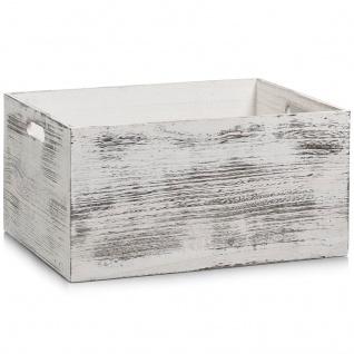 Aufbewahrungsbox RUSTIC WHITE, Holz , 40x30x20 cm, ZELLER