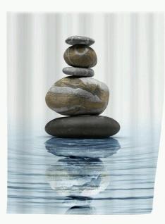 WENKO Duschvorhang Meditation 180 x 200 cm waschbar